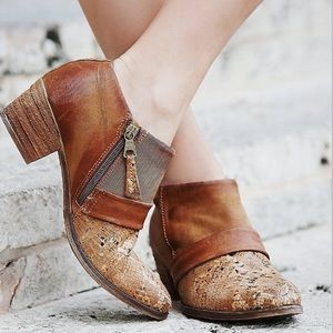 Mjus Distressed Leather Booties